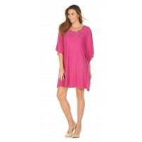 Beaded Kaftan in Citrine green or Hot Pink