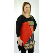 Union tunic with drawstring in Autumn tonings