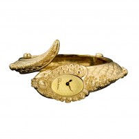 Roberto Cavalli Eva snake ladies gold plated watch...