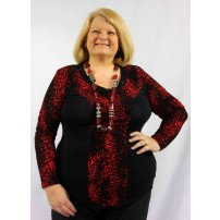 Altitude tunic in red and black